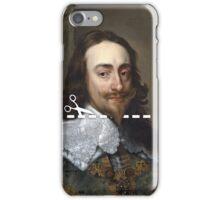 Cut Here - Charles I iPhone Case/Skin