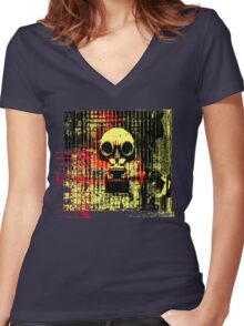 Post apocalyptic dreams Women's Fitted V-Neck T-Shirt