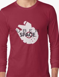 "Millenium Falcon from Star Wars ""Uber Space"" Long Sleeve T-Shirt"