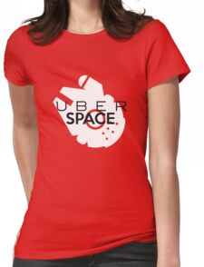 """Millenium Falcon from Star Wars """"Uber Space"""" Womens Fitted T-Shirt"""