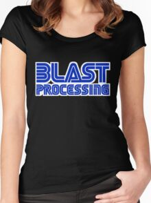 Blast Processing Women's Fitted Scoop T-Shirt