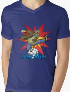 Time Bum Mens V-Neck T-Shirt