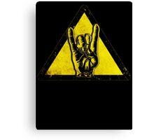 Heavy metal warning Canvas Print