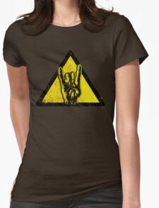 Heavy metal warning Womens Fitted T-Shirt
