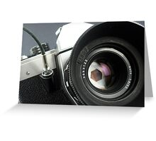 Camera in action. Greeting Card