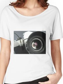 Camera in action. Women's Relaxed Fit T-Shirt