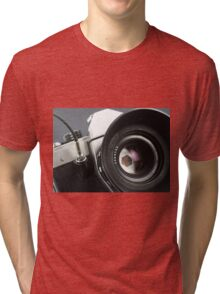 Camera in action. Tri-blend T-Shirt