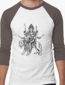 Hindu Goddess Durga Men's Baseball ¾ T-Shirt