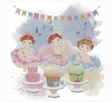 Watercolors Baby's Birthday With Cakes One Piece - Short Sleeve