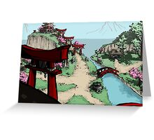 Blossom Village Greeting Card