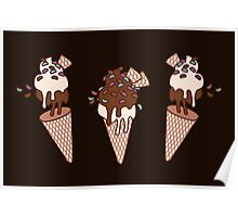 Chocolate Party Icecream Poster