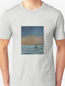 Sunset Stroll on the Shore T-Shirt
