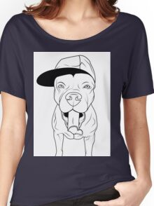 dogs, cute puppy pitbull Women's Relaxed Fit T-Shirt