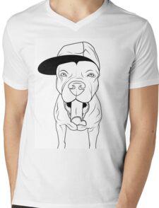 dogs, cute puppy pitbull Mens V-Neck T-Shirt