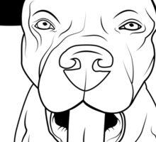 dogs, cute puppy pitbull Sticker