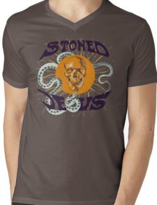 Stoned Jesus Artwork Mens V-Neck T-Shirt