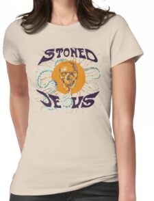 Stoned Jesus Artwork Womens Fitted T-Shirt