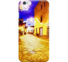 Arzachena: night road iPhone Case/Skin
