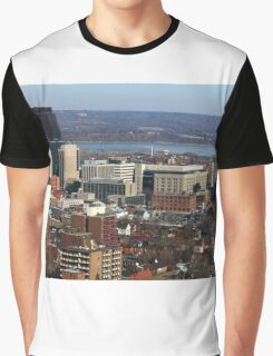 North-American Downtown in cold  sunny day. Graphic T-Shirt