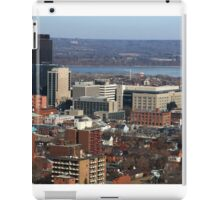 North-American Downtown in cold  sunny day. iPad Case/Skin