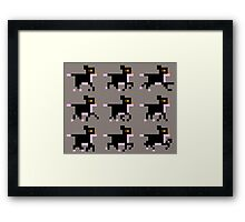 Running Pixel Kitty (pink) Framed Print