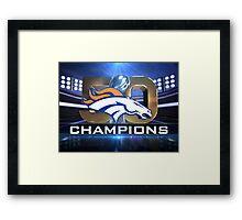 Denver Broncos Super Bowl Champions Framed Print