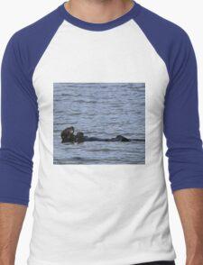 Sea otter-Seward Alaska Men's Baseball ¾ T-Shirt