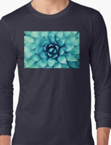Macro Turquoise Plant Long Sleeve T-Shirt