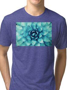 Macro Turquoise Plant Tri-blend T-Shirt