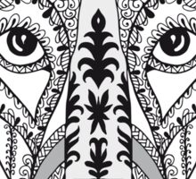 Zen art stylized pattern with basset dog heads. Sticker