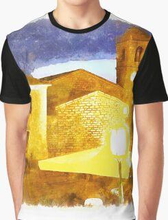 Arzachena: building church at night Graphic T-Shirt