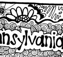 Pennsylvania State Zentangle Sticker