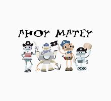 Funny Ahoy Matey Robot Pirates  Men's Baseball ¾ T-Shirt