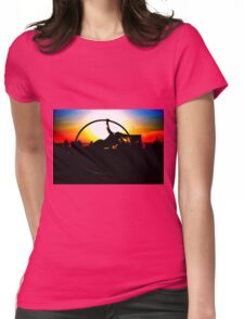 Sunset Celebration Russell Harris Womens Fitted T-Shirt
