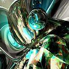 Cold Turmoil Abstract by Alexander Butler