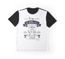 Born WIth a Reading List in Ivory Graphic T-Shirt