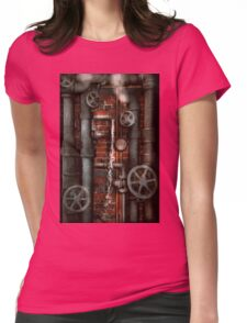 Steampunk - Plumbing - Pipes and Valves Womens Fitted T-Shirt