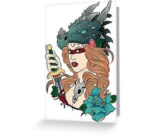 Dragon Maiden Greeting Card