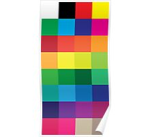 Basic CMYK Color Swatches Poster