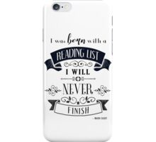 Born WIth a Reading List in Ivory iPhone Case/Skin