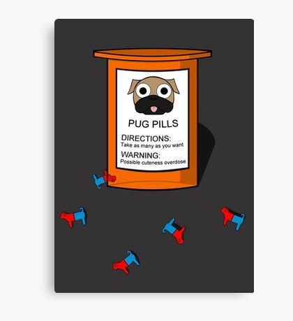 Pugs but drugs Canvas Print