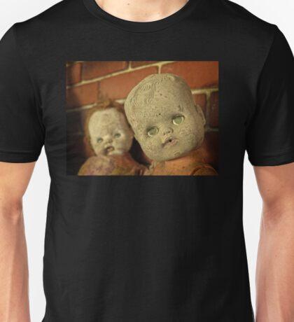 What's worse than 1 creepy doll?  Unisex T-Shirt