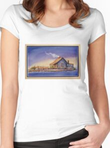 """""""IN FOR THE NIGHT"""" Women's Fitted Scoop T-Shirt"""