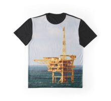 Yellow Oil Rig Graphic T-Shirt