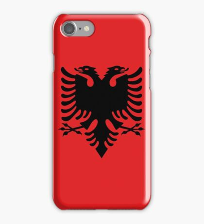 Albanian national flag in authentic color and scale. iPhone Case/Skin