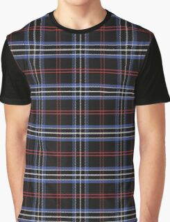 Blue and black pattern Scottish tartan Graphic T-Shirt