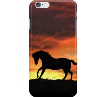 Pretty Running Horse in Firey Sunset iPhone Case/Skin