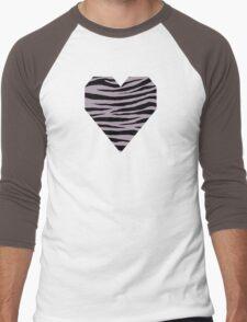 0587 Rose Quartz, London Hue or Heliotrope Gray Tiger Men's Baseball ¾ T-Shirt