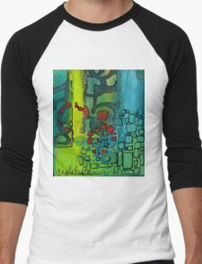 The Number Code (Three Part Abstract Series) Men's Baseball ¾ T-Shirt