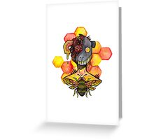 honey bee.  Greeting Card